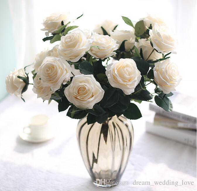 Fleurs artificielles Le bouquet floral 10 rose pour les décorations de mariage décorations de jardin maison beaucoup de couleurs pour choisir BP061