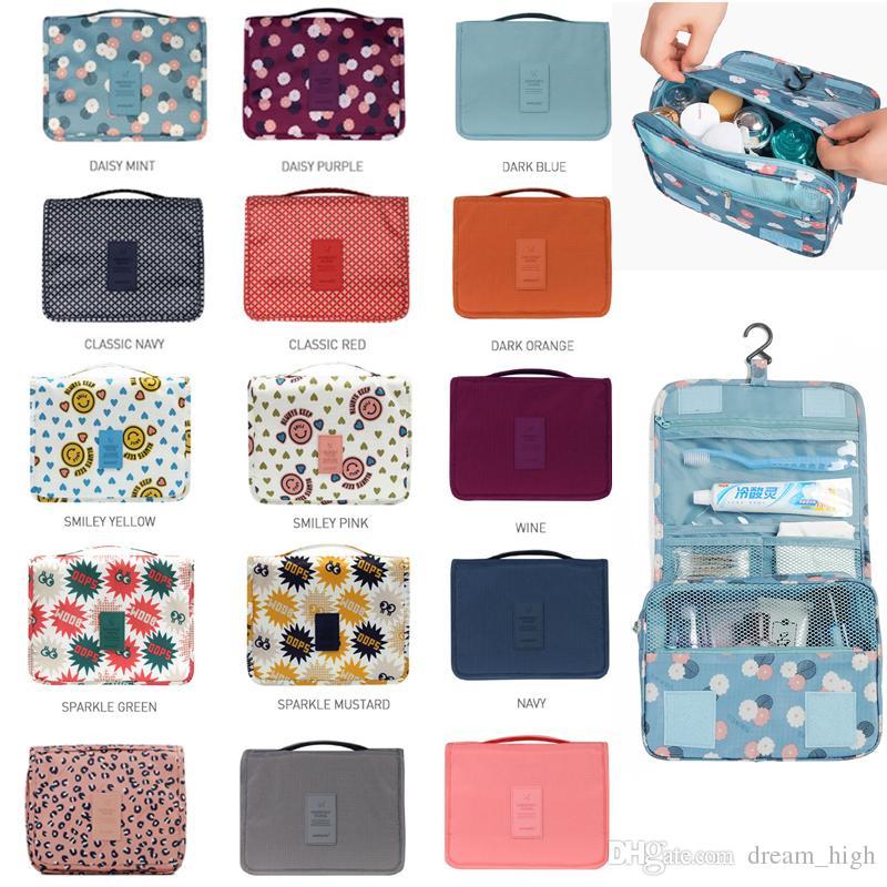 Saco de produtos de higiene pessoal Multifuncional Cosméticos Saco de Maquiagem Portátil Bolsa de Viagem À Prova D 'Água Pendurado Saco Organizador para Mulheres Meninas Sacos de Armazenamento