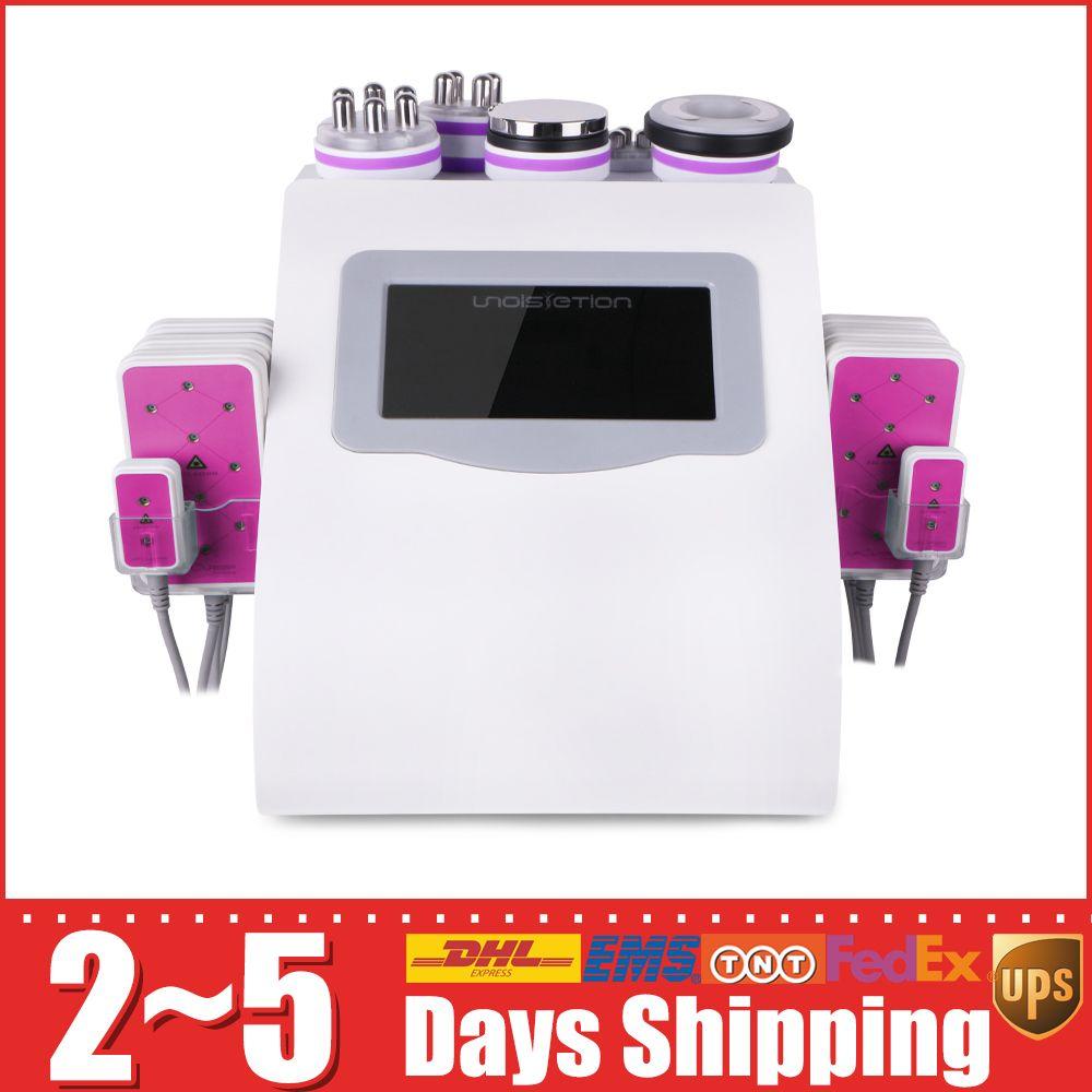 6 En 1 Cavitation Radio Fréquence LLLT Laser Contour perte de poids enlèvement du gras Sculpting Machine pour Salon Spa
