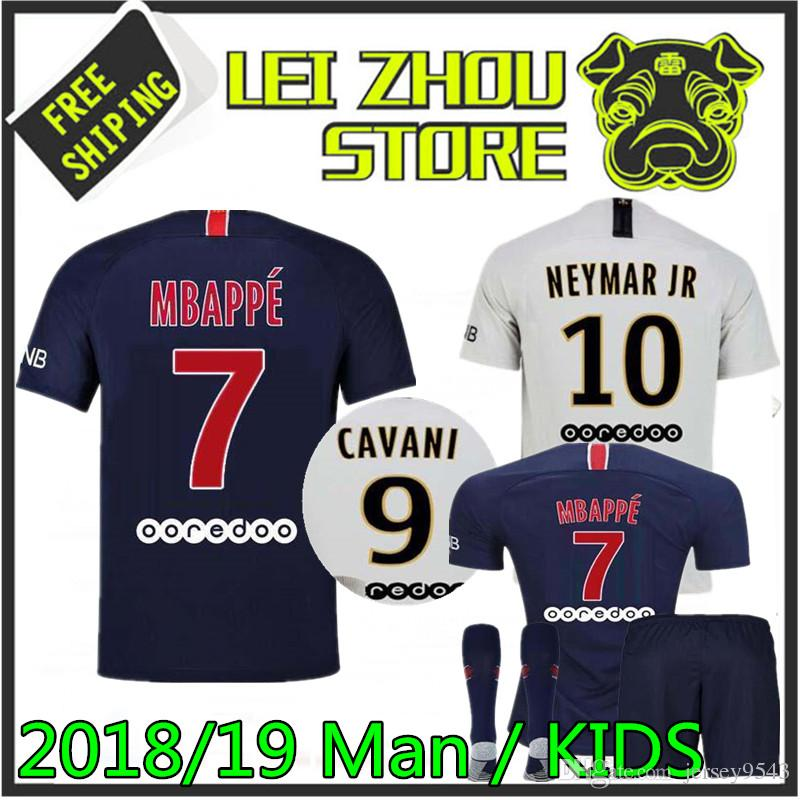 19-20 Football Kits MBAPPE7 Soccer Suits Kids Adults Jersey Football Sportswear