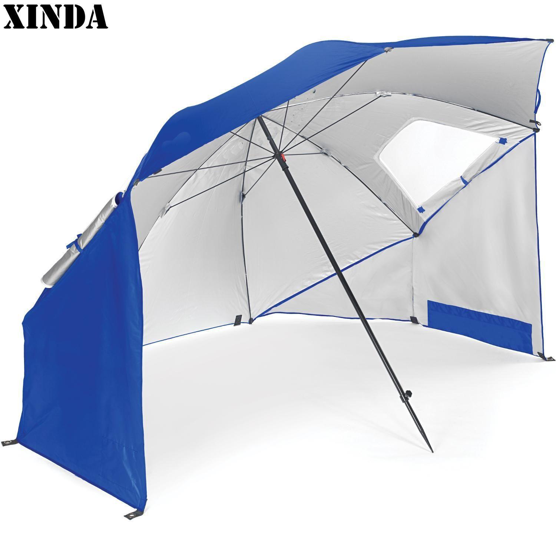 새로운 야외 해변 대형 파라솔 비치 우산 스포츠 휴대용 모든 날씨 일 우산 127 * 13 * 13cm 캐노피 철 옥스포드 천