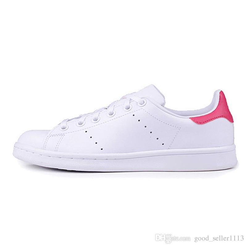Großhandel Adidas Stan Smith Shoes Hohe Qualität Smith Freizeitschuhe Raf Simons Stan Smiths Frühling Kupfer Weiß Rot Grün Mode Leder Marke Frauen Wen