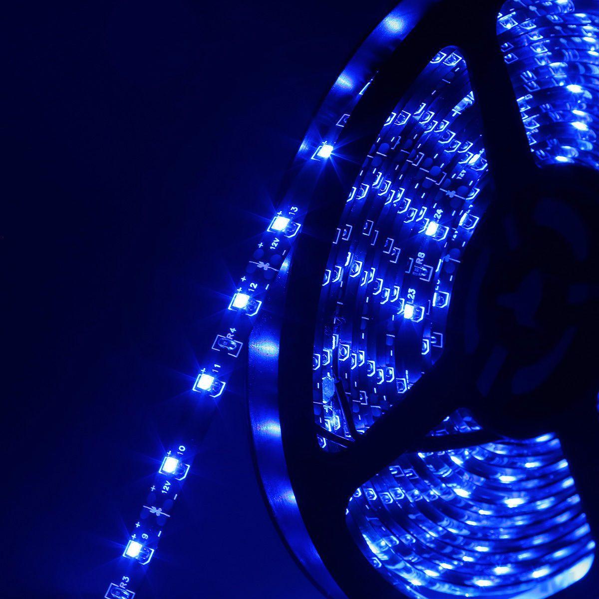 Holiday 5M roll SMD 3528 60LEDs impermeable / M 300 LED Warm Cool Blanco Rojo Verde Azul Amarillo Strip RGB LED flexible ligero IP65