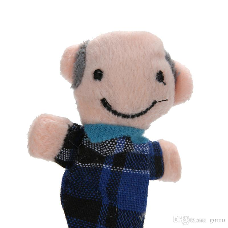 6 шт. / Установить семейные марионетки пальцев ткань кукла плюшевые игрушки рука кукол детская образовательная игрушка рассказывать реквизиты для детей детей подарок