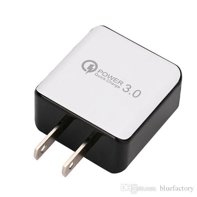 QC 3.0 Chargeur mural rapide USB Charge rapide 5V 3A 9V 2A Adaptateur secteur de voyage Charge rapide US EU Plug pour iPhone 7 8 X Samsung Huawei téléphone