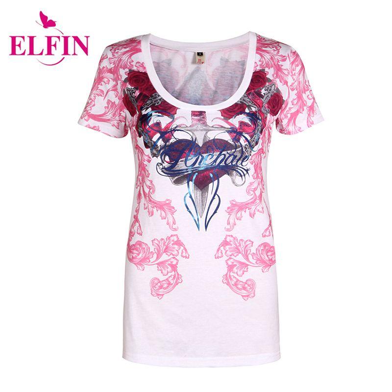 Лето женщины футболки с коротким рукавом сексуальные топы футболка Женская печать футболка плюс размер 5XL панк LJ8704R