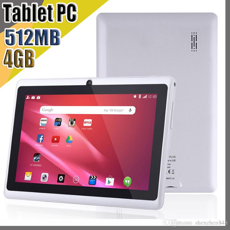 E NEW 7 inch Capacitive Allwinner A33 Quad Core Android 4.4 dual camera Tablet PC 4GB 512MB WiFi EPAD Youtube Facebook Google A-7PB