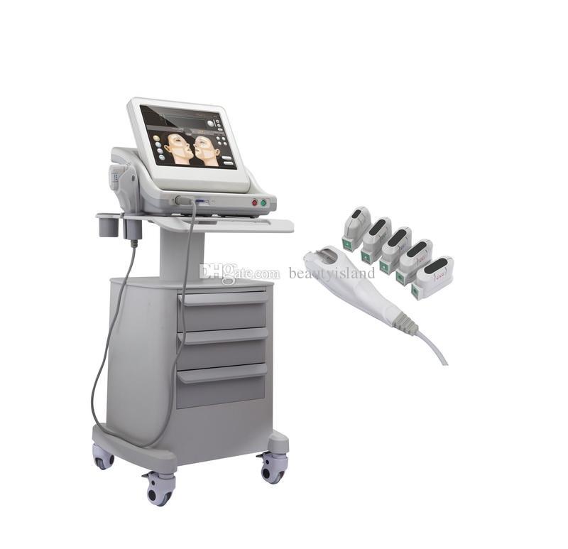 درجة الطبية Real Hifu Hifu عالية الكثافة التركيز الموجات فوق الصوتية HIFU آلة رفع الوجه مكافحة الشيخوخة مع 3 خراطيش أو 5 خراطيش لجسم الوجه