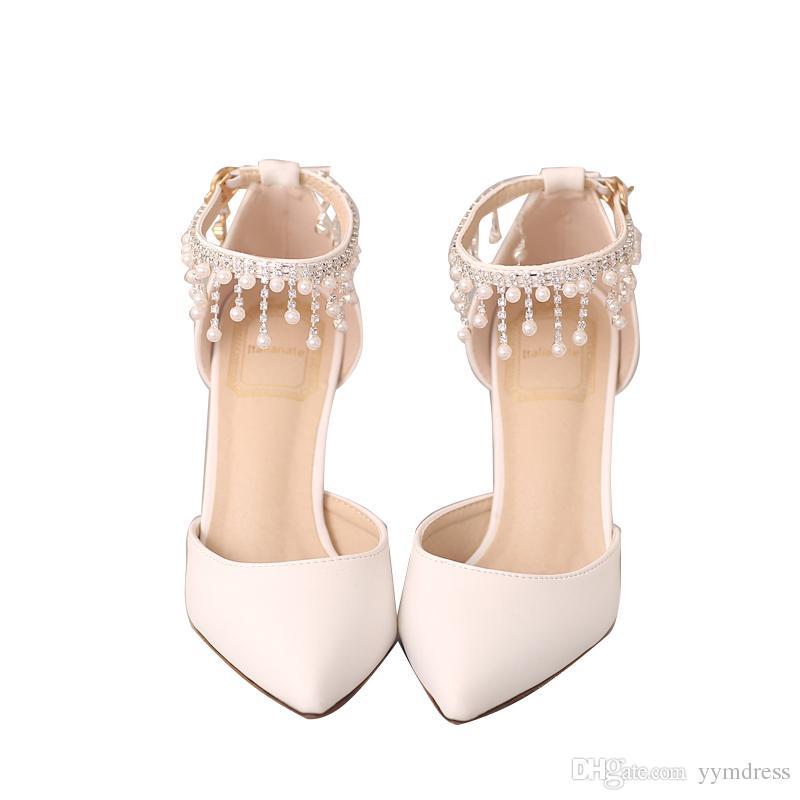 2019 nuove scarpe da sposa nuziale con punta Eden pompe da donna tacchi alti 9 cm con scarpe da foglie per sera cocktail party ballo