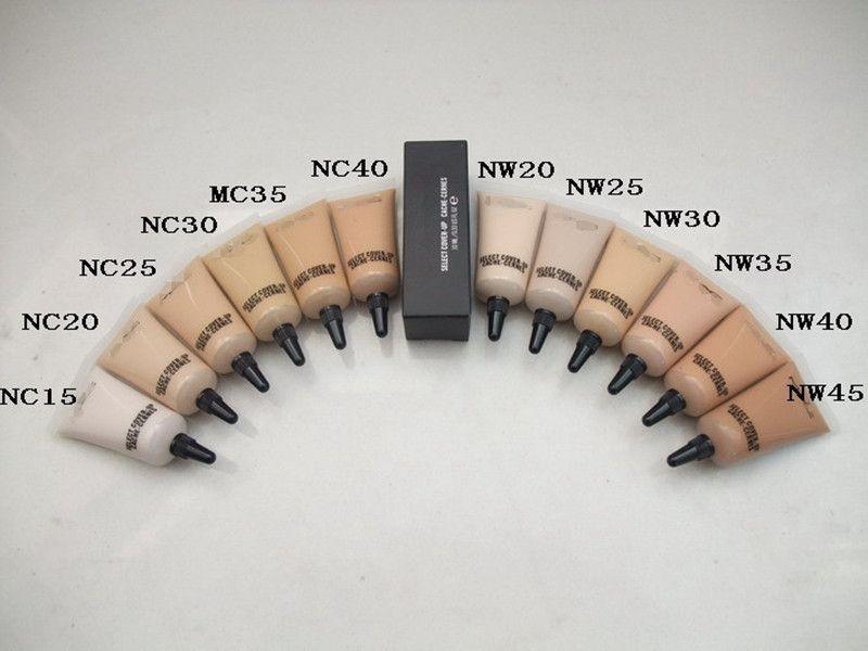 Hot makeup SELECT COVER-UP CACHE-CERNES 12colors M concealer liquid Foundation NC15-NW45 10ML/0.33OZ Liquid Concealer DHL