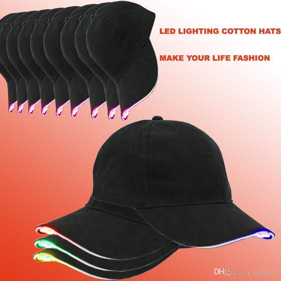 Iluminación LED Sombreros Unisex Luminoso Bling Béisbol Gorra de Led Fácilmente Ajustable para Caza, Trotar, Pesca con caña Partes de deportes de Noche al aire libre