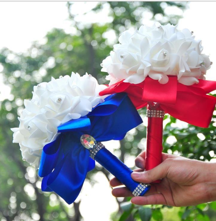 Avrupa ve Amerikan Düğün Ürünleri Düğün Gelin Holding Çiçek Kore Düğün PE Kabarcık Simülasyon Gelin Çiçekler Holding