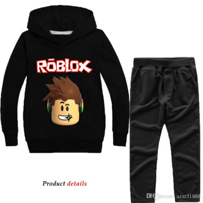 New ROBLOX Children/'s Fashion Casual Hoodie Pants Kids Set