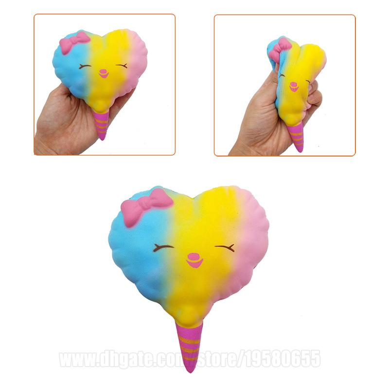 Cotton Candy Squishy Colorful Squishies Slow