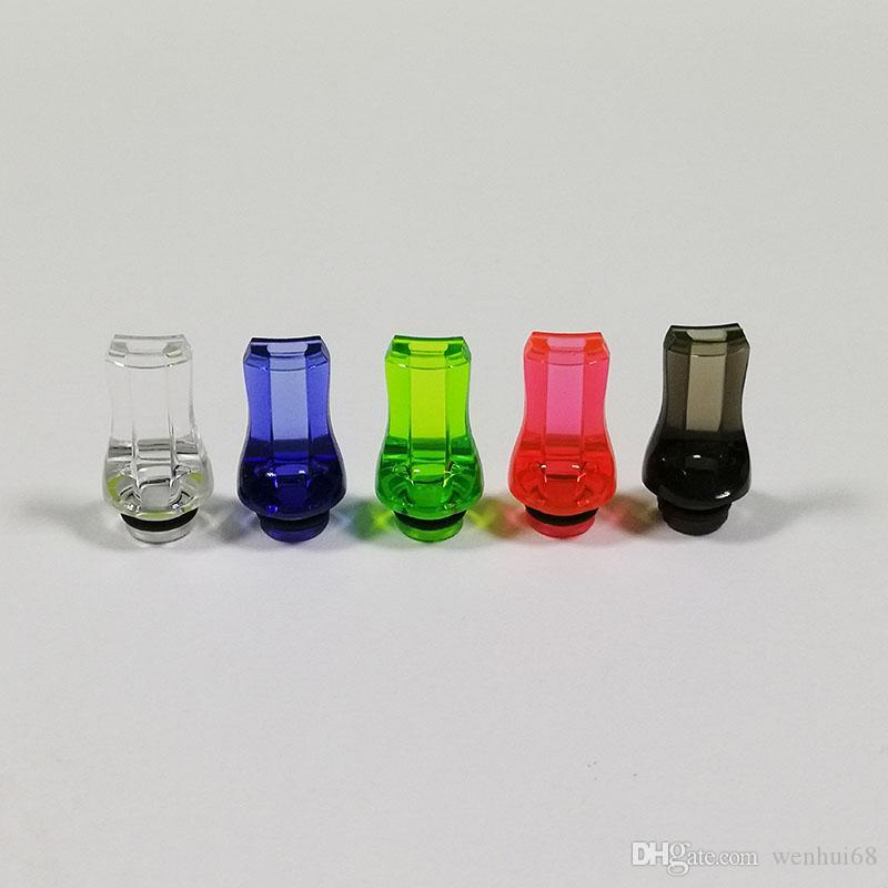 البلاستيك الملونة 510 نصائح بالتنقيط شقة الفم المعبرة غيض بالتنقيط