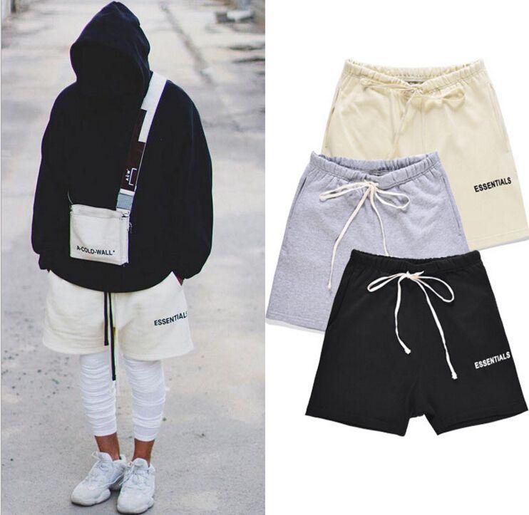 سروال سراويل الرجال أعلى جودة 18SS الضباب ESSENTIALS يشبه الصندوق الملابس أزياء ذكر قصيرة
