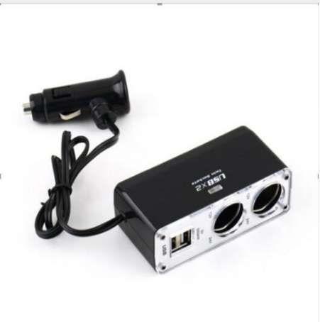 5V/1A Double USB Port 2 Way Auto Car Cigarette Lighter Socket Splitter Car Charger Plug Adapter DC 12V