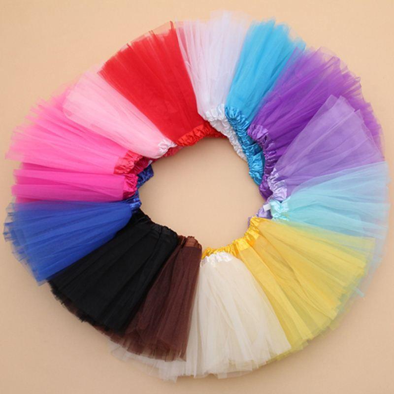 7 цветов девушки юбки Принцесса прекрасный Туту юбка 2-10Y дети летняя юбка конфеты цвет короткие девушки юбка