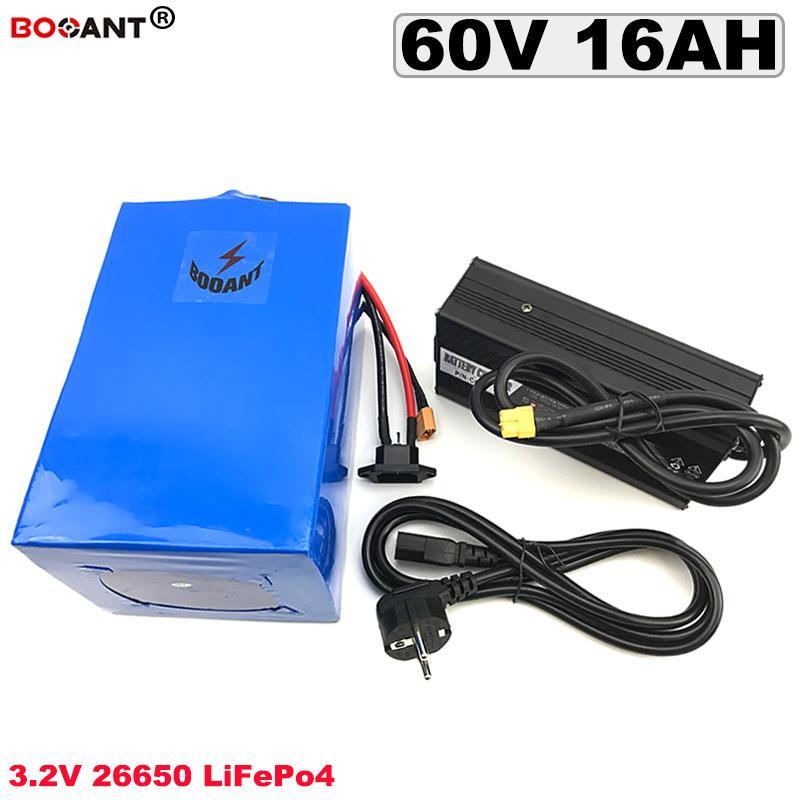 Batería 60V 16Ah LiFePO4 de litio para UA de EE.UU. Bafang 1200W Motor bicicleta eléctrica LiFePO4 3.2V 60V UE Sin Impuesto Gratis