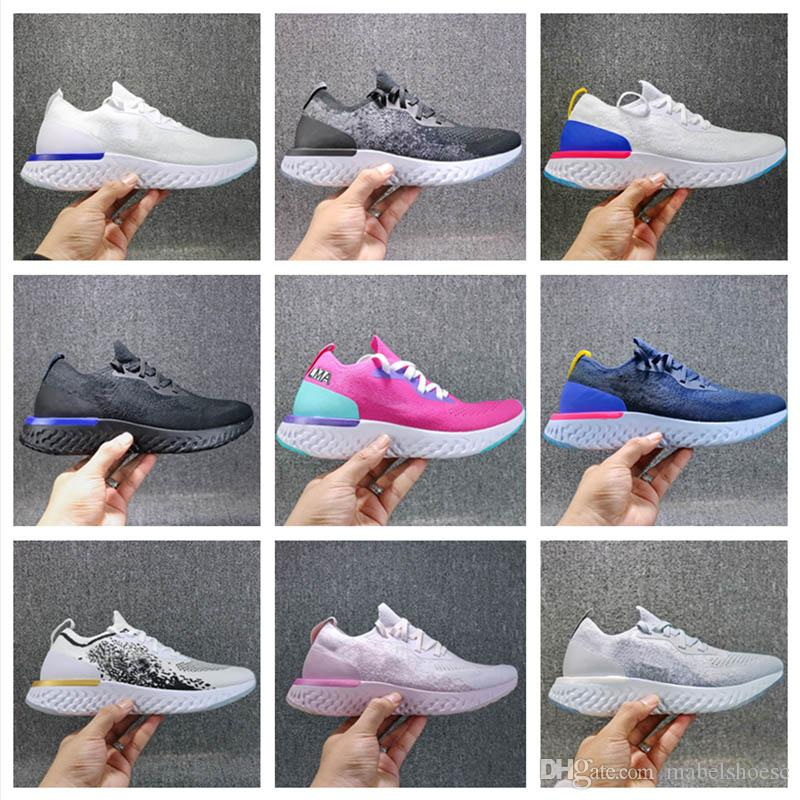 2018 Wholesale Zoom Epic React Fly Knit Foam Instant Go Fly Men Women Designer Running Shoes Sneakers Sport Trainers Without Box Running Shoes Men