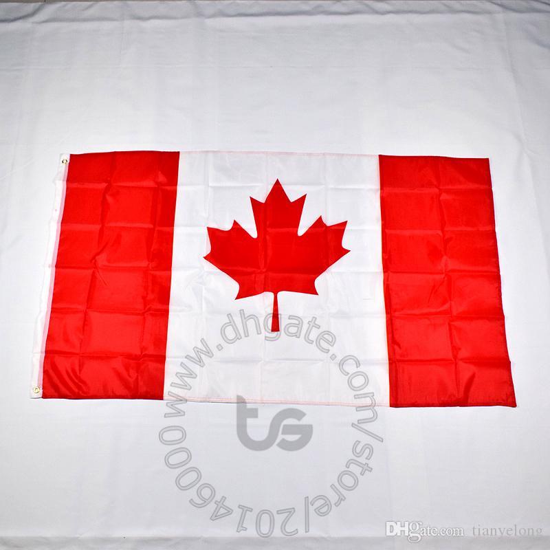 캐나다 플래그 룸 매달려 장식 배너 전국 무료 배송 3X5 FT / 90 * 150cm 매달려 국기 캐나다 홈 장식 플래그 배너