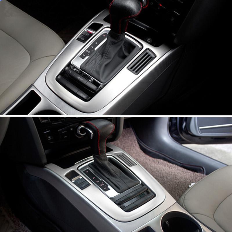 Console en acier inoxydable Panneau Accoudoirs Gearshift décoratif couverture Garniture bande Car Styling Autocollant Pour Audi A4 B8 13-15