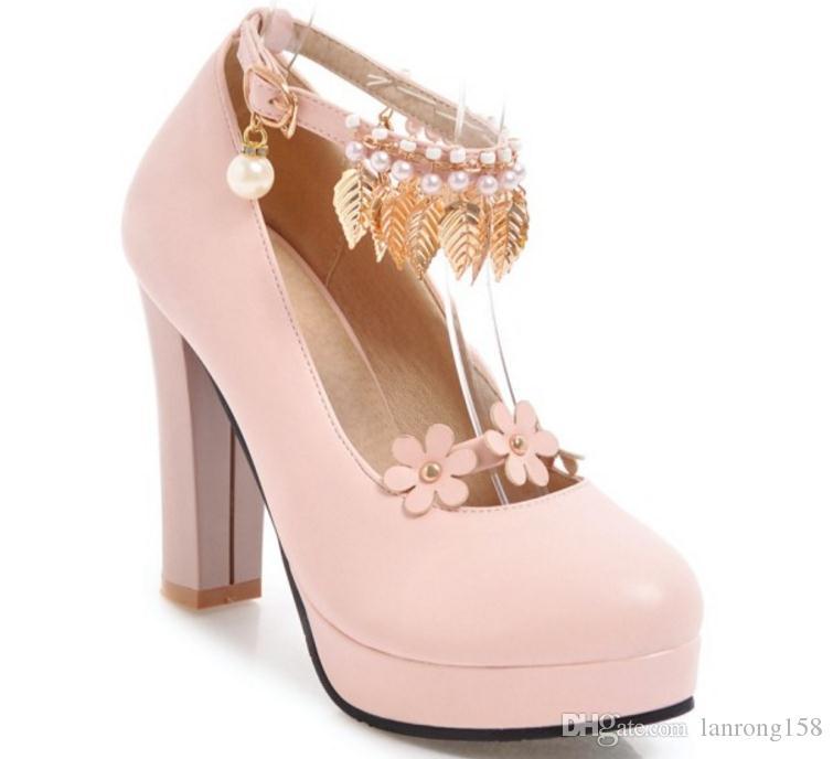 Бесплатно отправить горячая весна 2018 новый стиль корейский туфли на высоком каблуке женский Алмаз пряжки один обувь