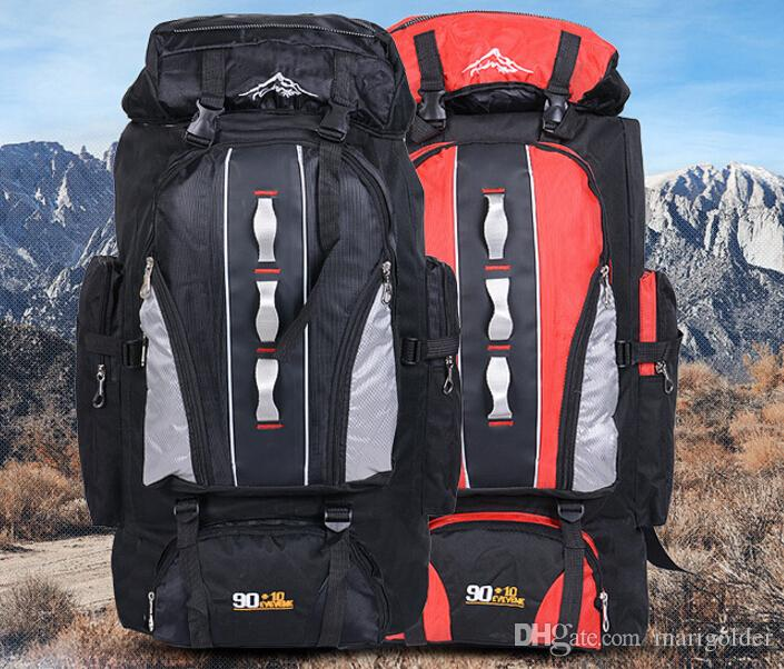 Solid Color Backpacks Oxford Cloth Big Waterproof Outdoor Sports Knapsack Bag
