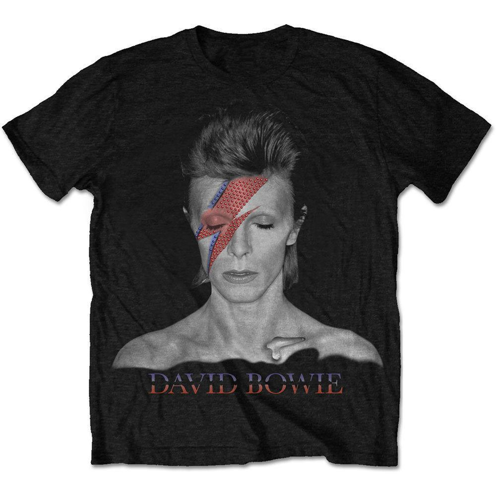 Funny Tee Shirts O - Neck David Bowie Aladdin Sane Men Short Sleeve Design T Shirts