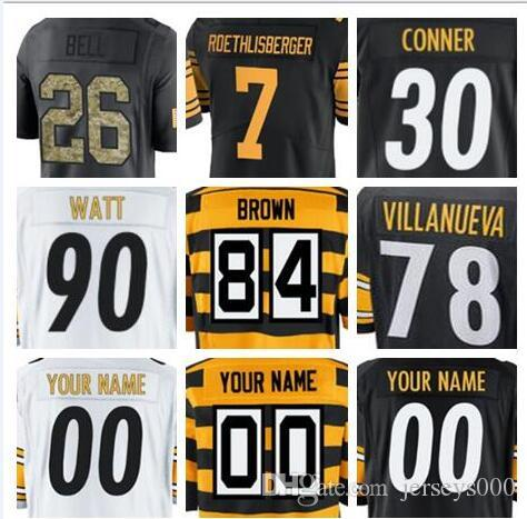 1db614b8e 2018 custom Pittsburgh T.J. Watt Steeler jersey Alejandro Villanueva Ryan  Shazier salute to service vapor authentic custom shirts jersey 4xl
