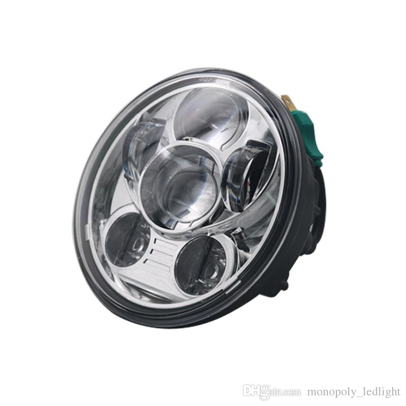5.75 5 3//4 Cree LED Headlight Daymaker Black Projector DRL Harley Dyna Sportster