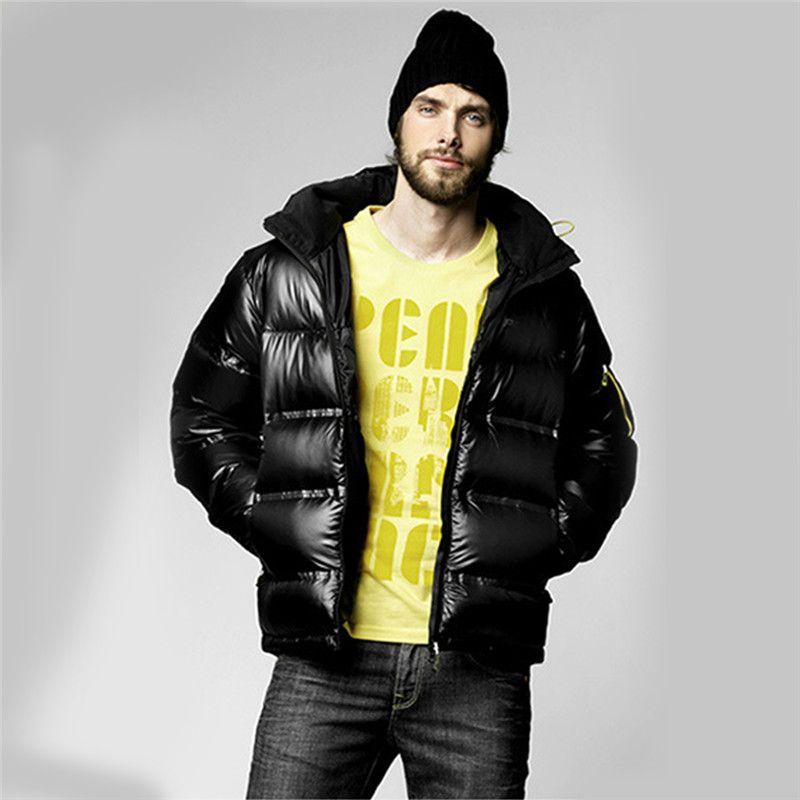 2017 Winter Mens Puffer Jacket Warm Cotton Male Parka Homme Ultra Light Padded Fleece Coat Plus Size 3XL 4XL 5XL Doudoune Homme