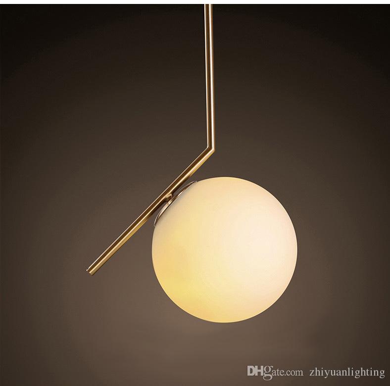 Style moderne boule de verre pendentif lampe salon chambre minimaliste restaurant pendentif lumière nordique vêtements décoration