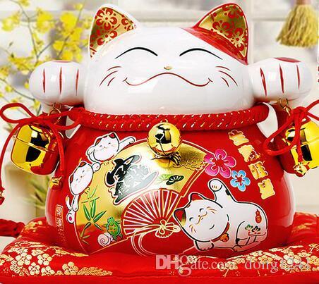 Lucky cat chat ornements cadeau créatif Accueil ouvert en céramique Piggy tirelire 2069 grand chat découpe meurt emboutir spinner craft