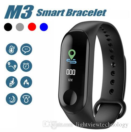 "M3 Smart Bracelet Fitness tracker HD 0.96"" Led Screen with Heart Rate Monitor Waterproof Bracelet Wristband For IOS and Android Phone"