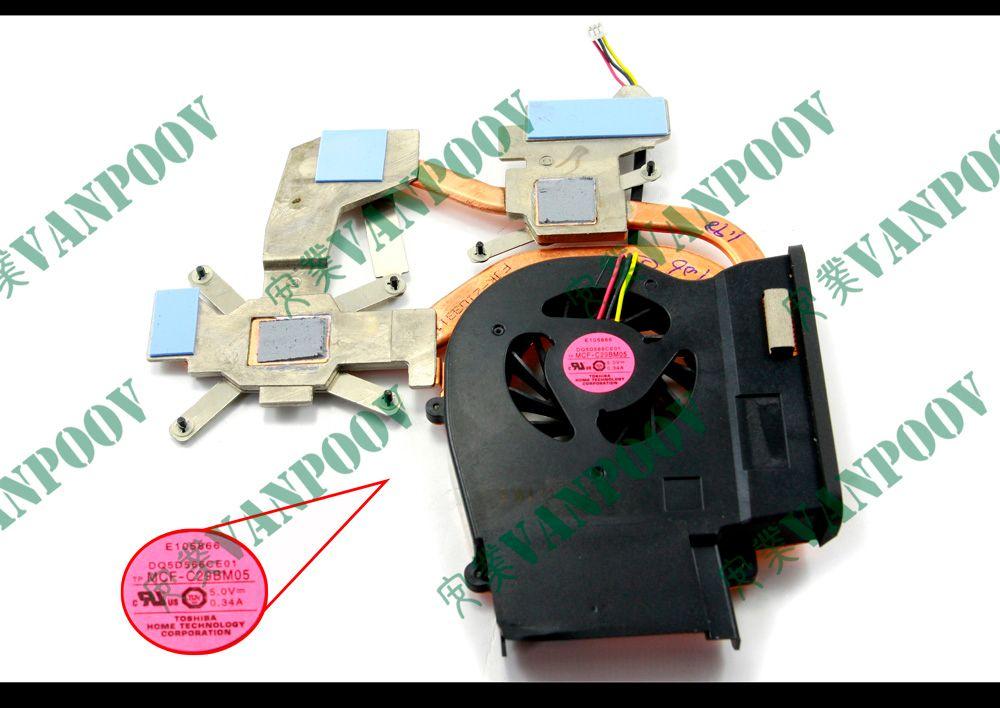 Neuer Laptop Lüfter (Kühler) Mit Kühlkörper für Sony Vaio VGN-CS - 26GD2CAN040 DC5V 0.34A