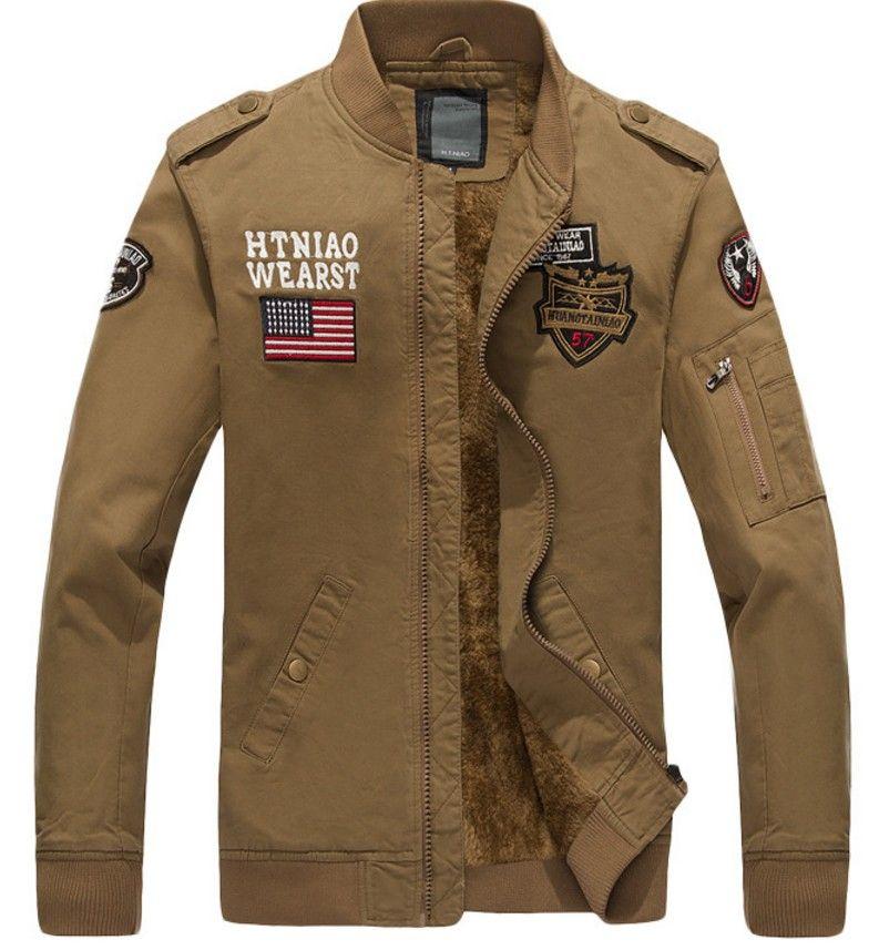 mens designer vestes mens designer manteaux d'hiver les États-Unis drapeau broderie vêtements pour hommes vestes militaires en plein air zipper coupe-vent poches