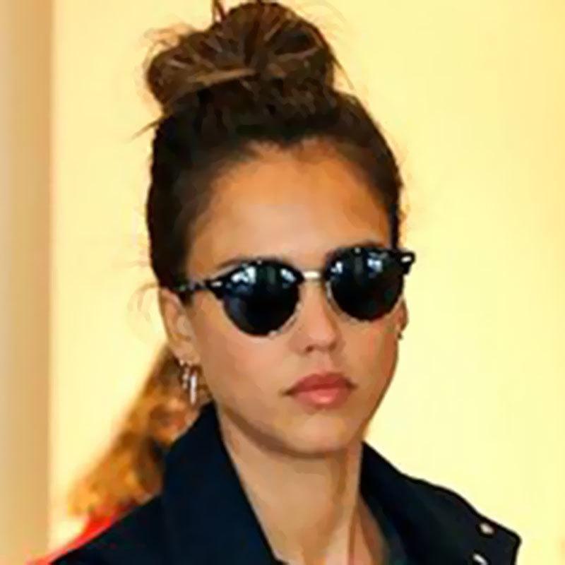 Chat femmes hommes dame lunettes célèbres lunettes de soleil de mode nouvelle tendance miroir oeil femme petit soleil rond gcrwj