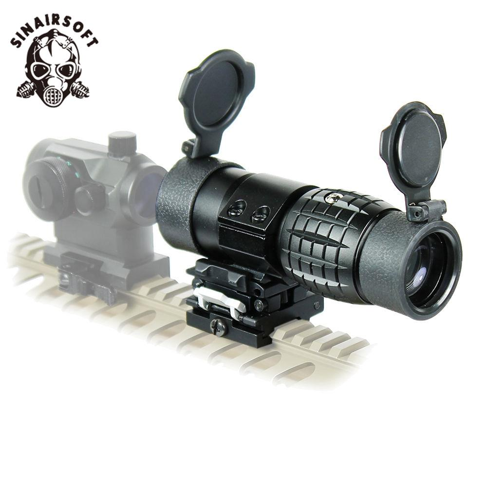 New 3X Magnifier Scope Sight Flip-to-Side 20mm Rail Mount Monocular Scope Sight