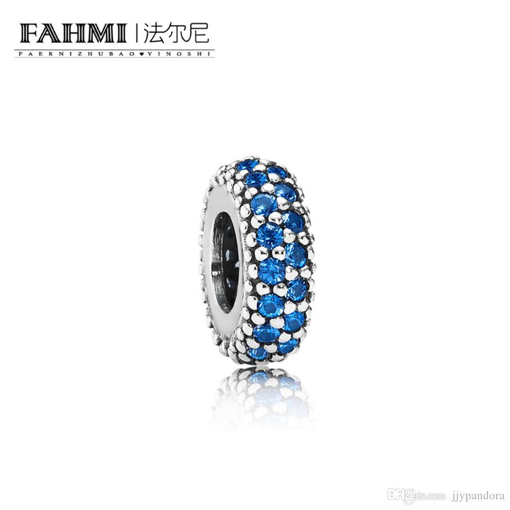 FAHMI 100% 925 Sterling Silver 1: 1 Original Authentic Charm 791359NCB Temperamento Fashion Glamour Retro Bead Wedding Monili Delle Donne