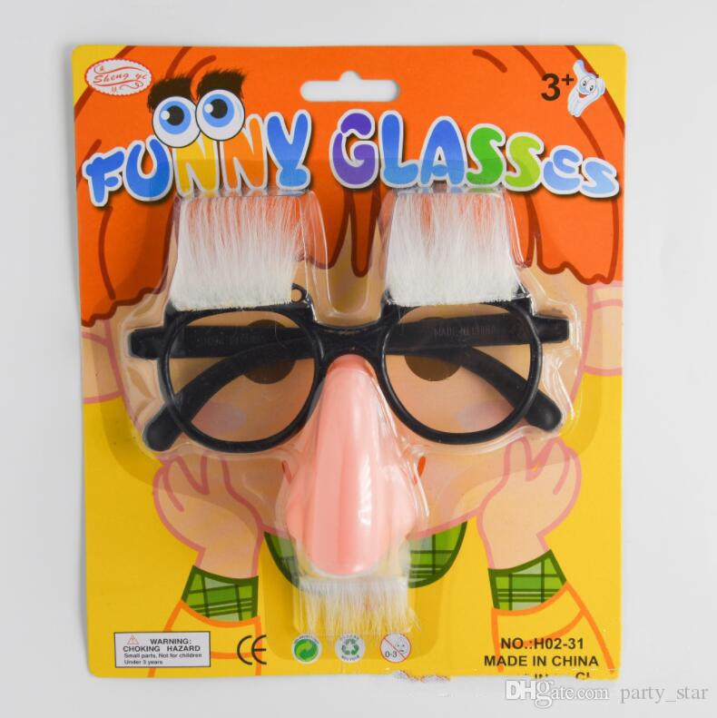 Adult Children Halloween Party Facial Glasses Kids Birthday Festive Funny Beard Eyebrows Glasses Party Funny Toy Supplies