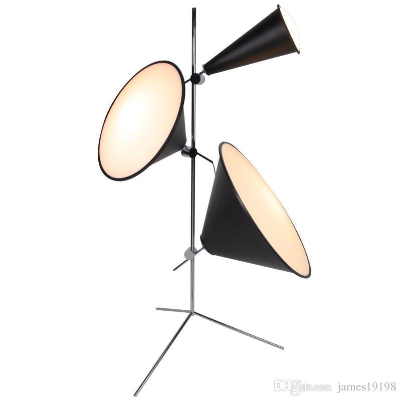 Современные алюминиевые Horn светодиодные Торшер камеры Черный Отель Домашнее украшение Постоянный светильник FA014