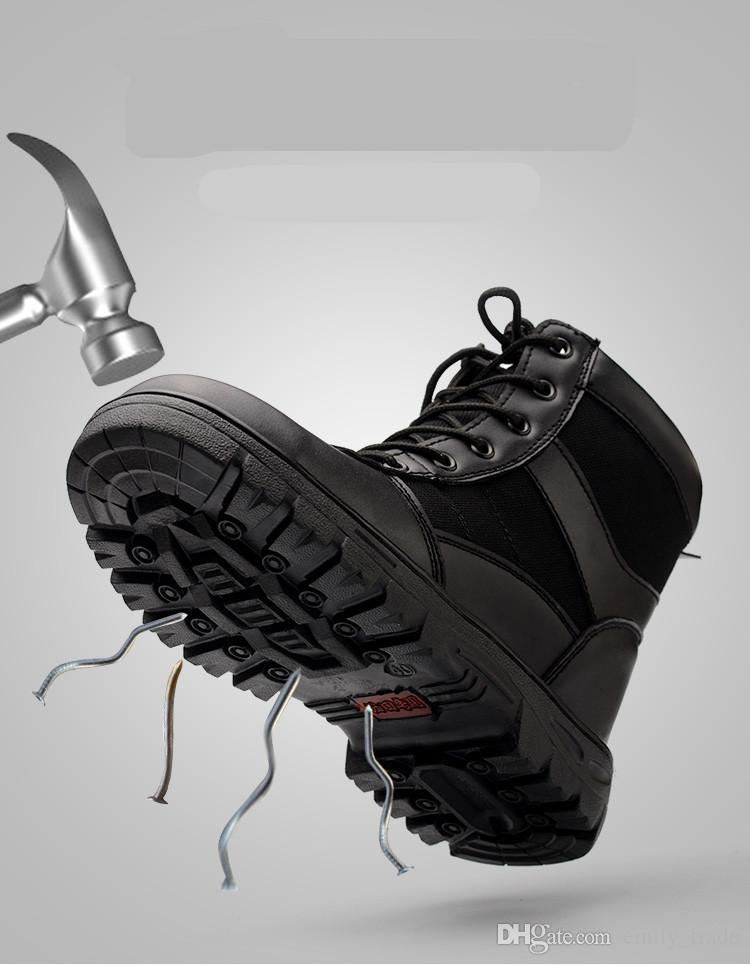 New winter labor insurance shoes men's high tooling steel toe caps anti-smashing puncture welding site safety shoes cold warm boots