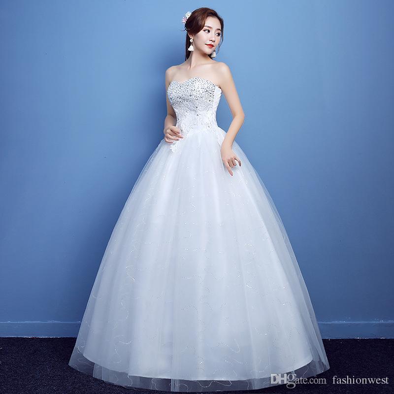 Vestido de boda de tamaño grande de encargo del vestido Vintage Tulle Ball Vestidos baratos Vestidos de novia Vestido nupcial