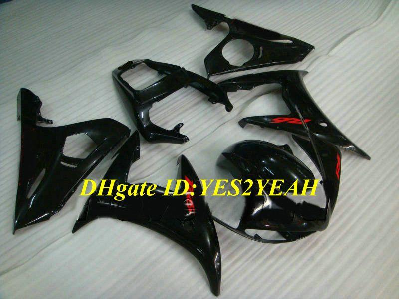 Motorcycle Fairing kit for YAMAHA YZFR6 03 04 05 YZF R6 2003 2004 2005 YZF600 ABS Gloss black Fairings set+Gifts YN24
