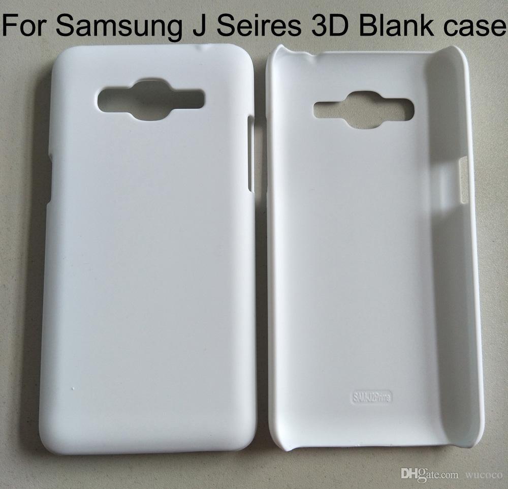 Caja del teléfono de la sublimación en blanco para Samsung J2 J3 J4 J5 J6 J7 J8 2017 2018 caja del teléfono de la impresión 3D duro de la PC 10 pedazos / porción