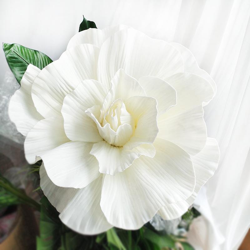 ارتفع كبيرة PE رغوة الزهور رئيس اليدويه الديكور ديكور المنزل الزفاف جدار خلفية التصوير الفوتوغرافي المرحلة الديكور الأزياء الحرف الزهور