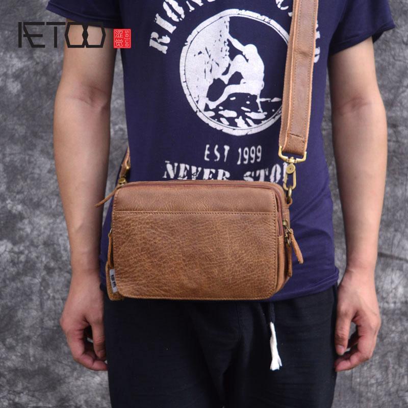 Сумка AETOO новая сумка японский ретро кожаные сумки кожаные мужские мужские