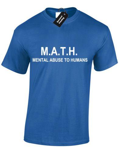 Math Mental Abuse To Humans Mens Premium T-Shirt Teacher Funny Slogan