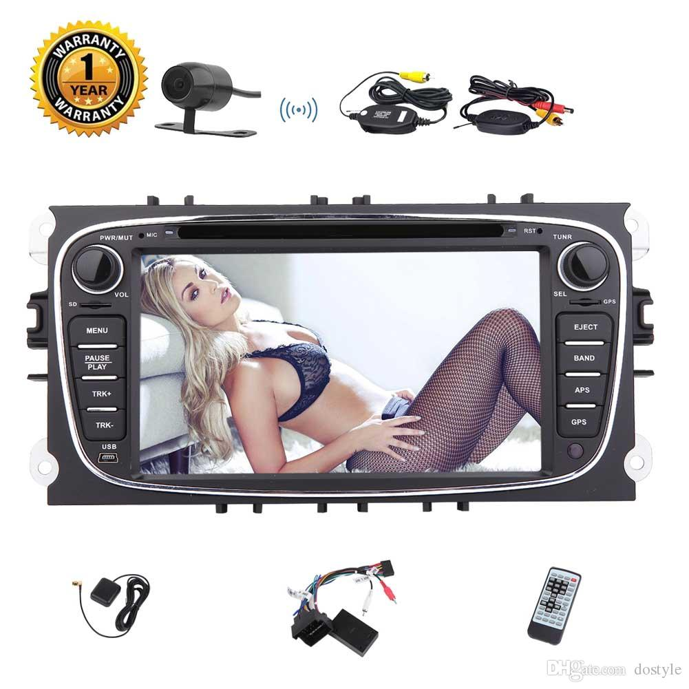 Wireless Camera+2din GPS Car DVD Player Octa-core Android 7.1 System Stereo Dash 7'' GPS Navigation Bluetooth HeadUnit Wifi 4G OBD USB/SD